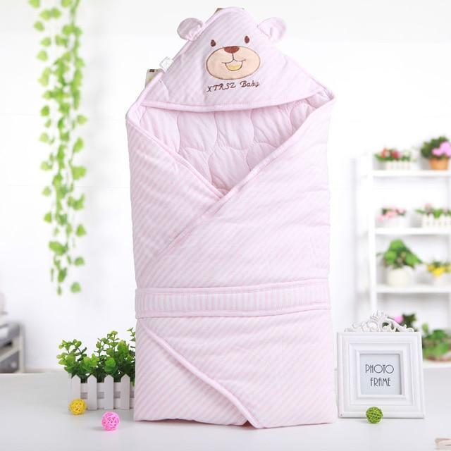 PINkart-USA Pink Cute Bear Shape Baby Sleeping Bag Blanket For Autumn Spring Soft Comfortable Cotton Infant