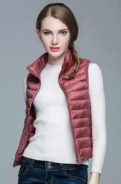 PINkart-USA Pink / S Winter Women 90% White Duck Down V Women'S Ultra Light Duck Down V Jacket Autumn Winter