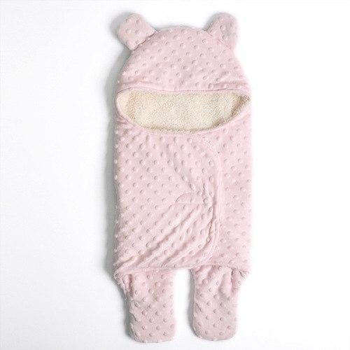 PINkart-USA Pink Small Hot Sale Baby Sleeping Bag Knitted Solid Swaddle Blanket Footmuff Sleepsacks Winter Warm Infants'