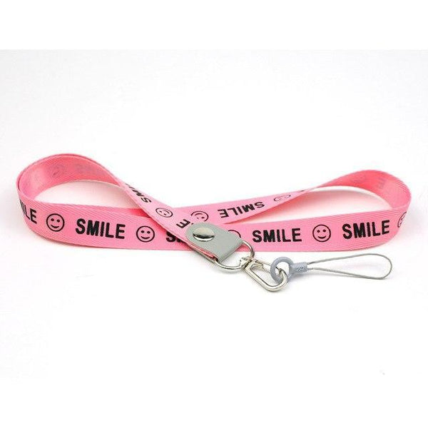 PINkart-USA Pink Smile Phone Neck Strap For Keys Id Card For Samsung S6 S7 Edge Iphone 4 5 5S Huawei Usb Badge