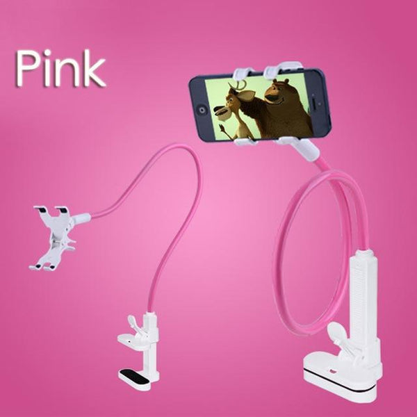 Universal Bed Desk Cell Phone Holder Long Arm Bendable Mount 360 Degree Rotatable Stand For