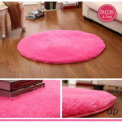 PINkart-USA Pink White Circle Yoga Cushion Solid Computer Cushions Rugs Round Carpets For Living Room Lovely