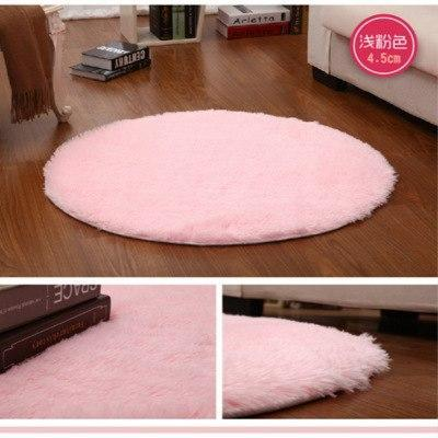 Pink White Circle Yoga Cushion Solid Computer Cushions Rugs Round Carpets For Living Room Lovely