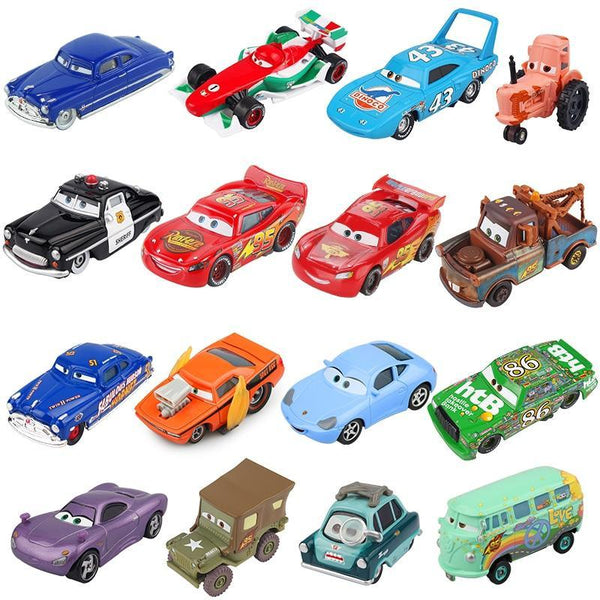 PINkart-USA Pixar Cars 2 3 Lightning Mcqueen Mater Jackson Storm Ramirez 1:55 Diecast Vehicle Metal Alloy Boy