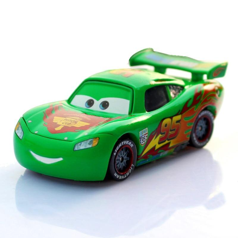 Pixar Cars 2 No.95 Lightning Mcqueen Green Limited Collection 1:55 Diecast Metal Car Model Birthday
