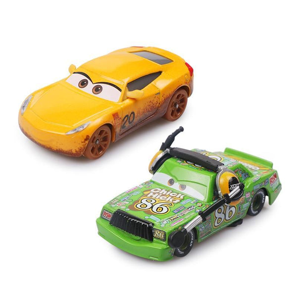 Pixar Cars 3 Limited Cruz Ramirez Chick Hicks Lightning Mcqueen 1:55 Diecast Metal Alloy Model