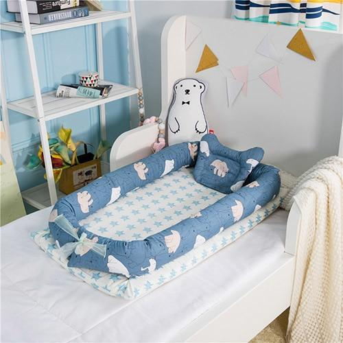PINkart-USA Polar bear Portable Baby Nursery Nest Bed Cot Born Bionic Bed Crib Cot Infant Toddler Sleeping Size Bed