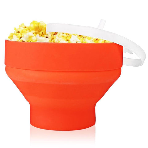 PINkart-USA Popcorn Maker Silicone Collapsible Microwave For Home Dly Hot Air Popcorn Poppers Bowl