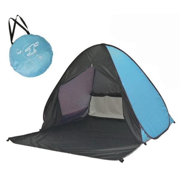 PINkart-USA Portable Beach Tent!Pop Up Automatically Set Up Camping Beach Tent With Curtain Quickly Open