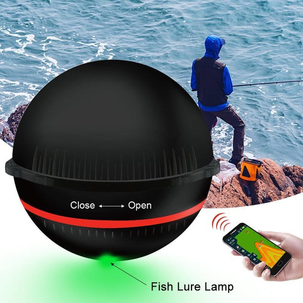 PINkart-USA Portable Sonar Fish Finder Lamp Bluetooth Wireless Sonar For Iphone Fish Lamp 36M/118Ft Depth