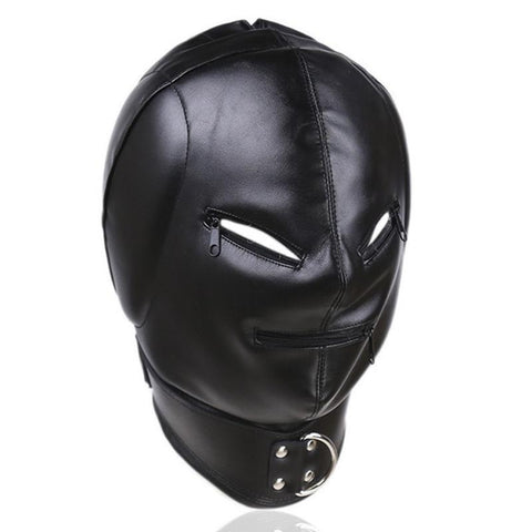 PINkart-USA Pu Leather Bondage Hood Sex Toys For Couples Adult Games Cosplay Slave Mask Bdsm Hood Fetish Wear