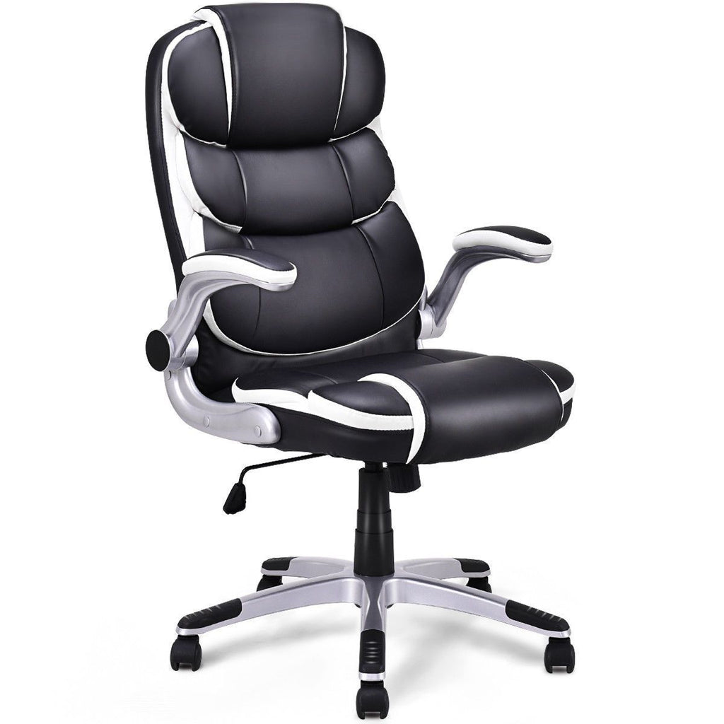 PINkart-USA Pu Leather High Back Executive Office Chair Modern Swivel Desk Task Computer Gaming Chairs
