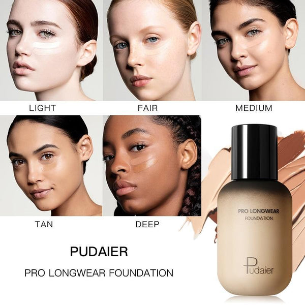 PINkart-USA Pudaier 40Ml Pro Longwear Face & Body Foundation Spf 30 Sheer Coverage Hydrating Liquid Face