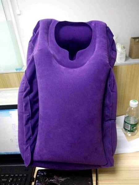 PINkart-USA Purple BT177A / China The Most Diverse & Innovative Inflatable Travel Pillow On Airplane Pillows Neck Pillow Cushion