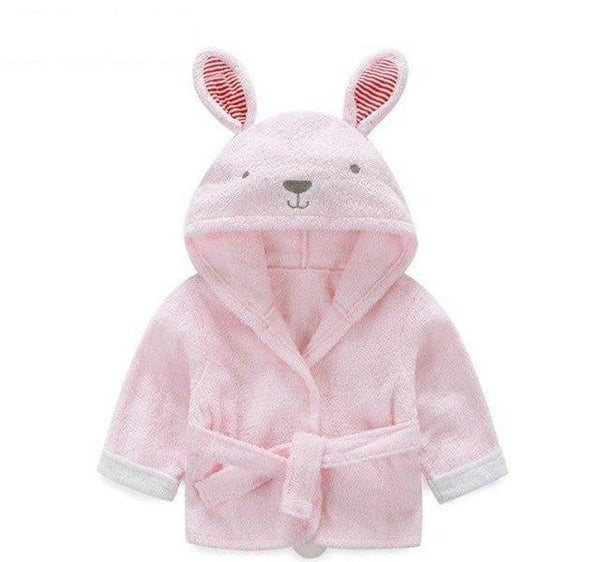 PINkart-USA rabbit / 9M Infant Animal Modeling Of Home Service Cotton Hooded Bathrobes Children'S Various Shapes Of Animals