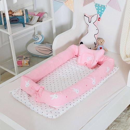 PINkart-USA Rabbit Portable Baby Nursery Nest Bed Cot Born Bionic Bed Crib Cot Infant Toddler Sleeping Size Bed