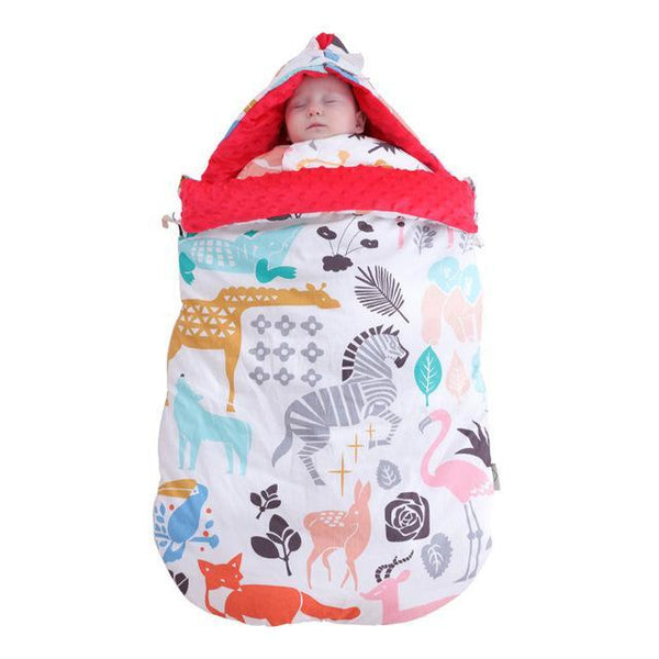 PINkart-USA red animals Warm Soft Cotton 3D Tactile Granules Sleeping Bag Stroller Bag Thickened Newborn Sleep Sack