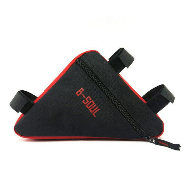 PINkart-USA Red Black Triangle Bike Bag Front Tube Frame Cycling Bicycle Bags Waterproof Mtb Road Pouch Holder Saddle