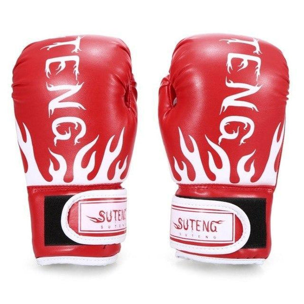 PINkart-USA Red Boxing Gloves For Children Breathable Safety Boxing Training Leather Gloves For Child Fitness