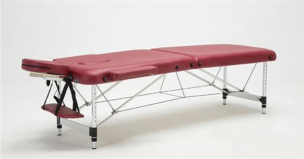 PINkart-USA Red Color Massage&Relaxation Aluminum Portable Relaxing Massage Table With Adjustable Face Cradle Spa Bed