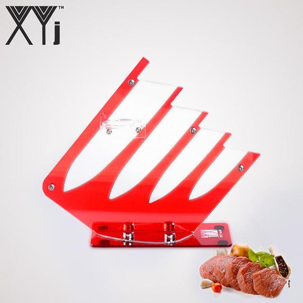 PINkart-USA Red for 4 knives XYj Kitchen Ceramic Knife Holder 4Pcs/5Pcs Knife Set Knife Blocks Durable Acrylic Kitchen Knive Stand Kitchenware Accessories