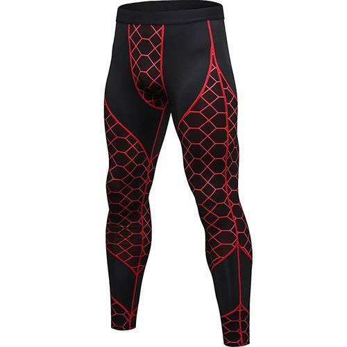 PINkart-USA red net / L Quick Dry Sports Pants Men High Elastic Jogging Pants Men Outdoor Training Tight Sports Trousers