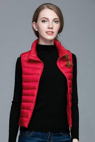 PINkart-USA Red / S Winter Women 90% White Duck Down V Women'S Ultra Light Duck Down V Jacket Autumn Winter