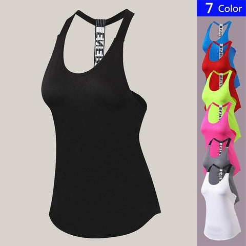 PINkart-USA Red / S Women Tights Gym Tank Top Quick Dry Sleeveless Sport Shirt Gym Clothing For Summer Cool Girl'S