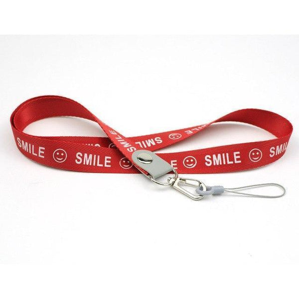 PINkart-USA red Smile Phone Neck Strap For Keys Id Card For Samsung S6 S7 Edge Iphone 4 5 5S Huawei Usb Badge