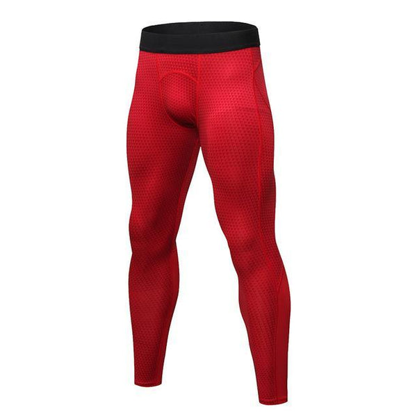 PINkart-USA red triangle / S Men Running Pants For Elastic Sport Workout Training Pants Gym Clothing Fitness Tight Sport Jogging
