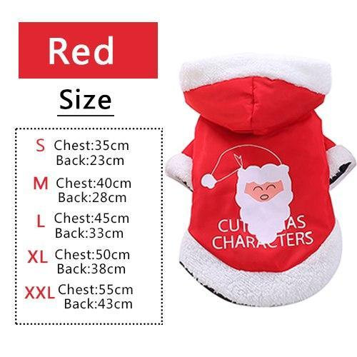 PINkart-USA Red / XS Pet Dog Cat Autumn Winter Christmas Two Feet Clothes Coat Overalls Costume Warm Jacket