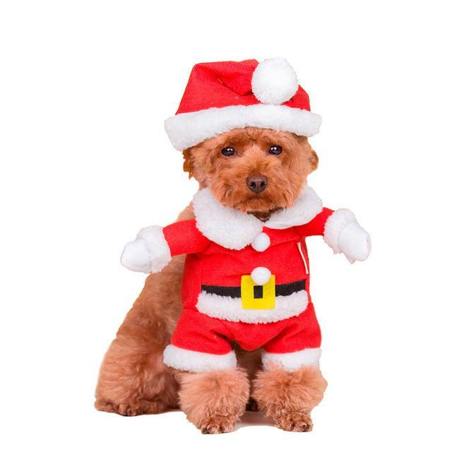 PINkart-USA Red / XXL Pet Dog Cat Autumn Winter Christmas Two Feet Clothes Coat Overalls Costume Warm Jacket
