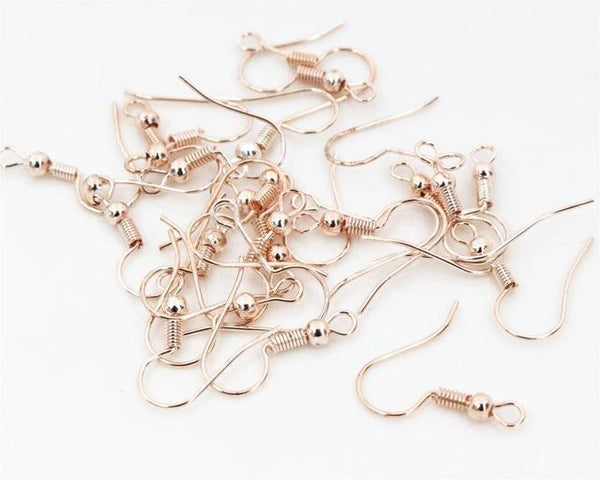 PINkart-USA Rose Gold 100Pcs/Lot 20X17Mm Diy Earring Findings Earrings Clasps Hooks Fittings Diy Jewelry Making