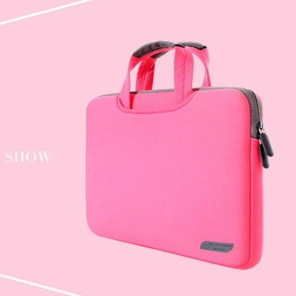 PINkart-USA rose red / 12-inch Dowswin Laptop Bag 13 15 Inch Notebook Sleeve Bag Business Handbag For Macbook Air 13 Case Bag