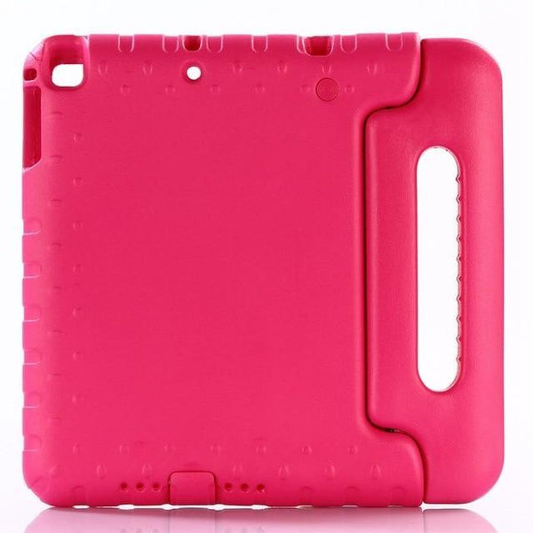 PINkart-USA rose red Case for ipad air / air 2 9.7 inch hand-held Shock Proof EVA full body cover Handle stand case for kids for iPad 2017 2018 case