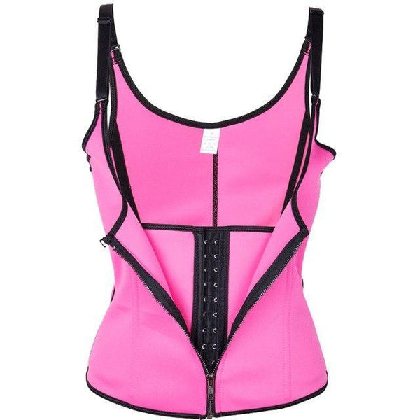 PINkart-USA rose red / XXL Sexy Women Slimming Belt Corset Neoprene Waist Trainer Body Shaper Modeling Strap Shapewear Chest
