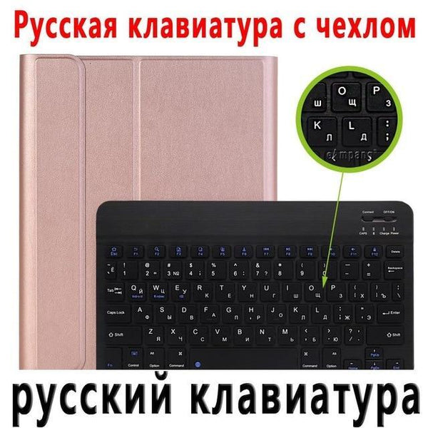 PINkart-USA Russian Keyboard 1 / China For iPad 2018 Keyboard Case with Pencil Holder for iPad 9.7 2017 2018 5th 6th Generation Bluetooth Russian Spanish Keyboard Case