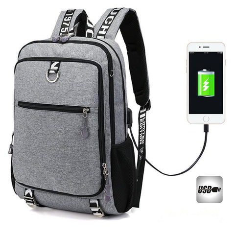 PINkart-USA S1747-black Business Notebook Backpack Large Capcity Usb Charge Men Escolar Mochila College Quality Laptop Bag Teenage School Backpacks