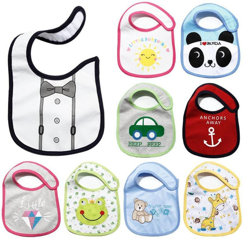 PINkart-USA Sales 20 Styles Changed Baby Cotton Bibs Infant Cartoon Waterproof Saliva Towel High Quality Carter