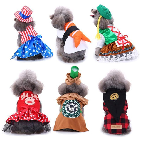 PINkart-USA SDZ54 / L Funny Halloween Clothing For Dogs Winter Dog Clothes Sushi Cosplay Suit Cat Costume Pet Coat French