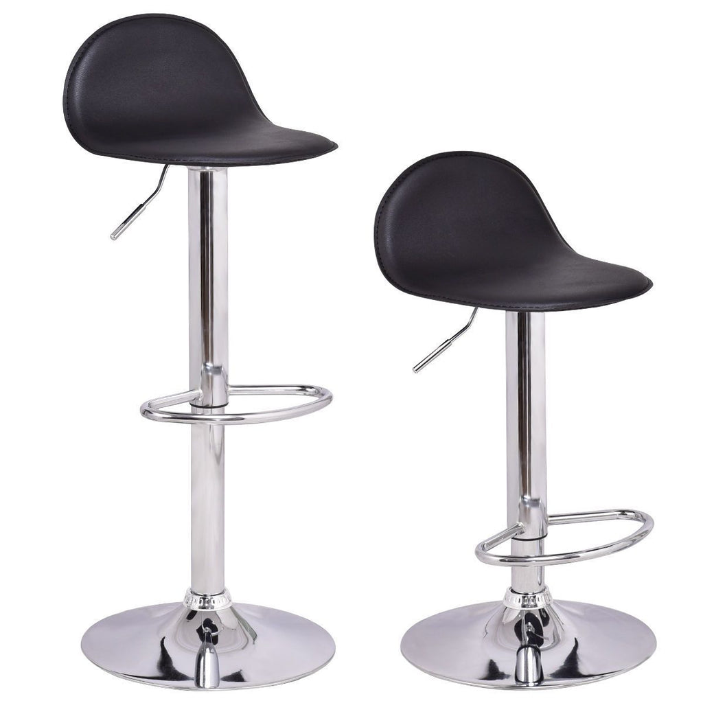 PINkart-USA Set Of 2Pcs Swivel Bar Stools Modern Adjustable Height Diner Seat Chairs Home Bar Furniture