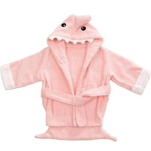 PINkart-USA shark 1 / 9M Infant Animal Modeling Of Home Service Cotton Hooded Bathrobes Children'S Various Shapes Of Animals