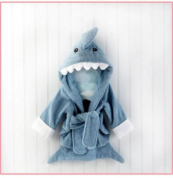 PINkart-USA shark / 9M Infant Animal Modeling Of Home Service Cotton Hooded Bathrobes Children'S Various Shapes Of Animals