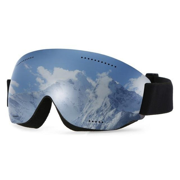 PINkart-USA Silver Anti-Fogging Goggle Skiing Uv400 Protective Goggles Otg Climbing Skating Snow Sports Goggles For