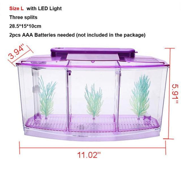 Arcylic Betta Guppy Baby Small Fish Separation Fish Bow Aquarium Breeding Box