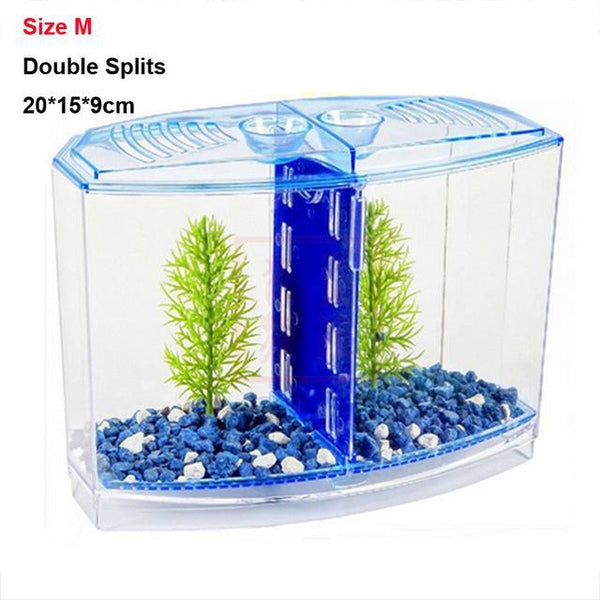 PINkart-USA Size M Blue / Acrylic Breeding Box Arcylic Betta Guppy Baby Small Fish Separation Fish Bow Aquarium Breeding Box