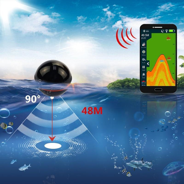 PINkart-USA Smart Portable Fish Finder Depth Sonar Sounder Fishfinder For Lake Sea Fishing Alarm Depth For
