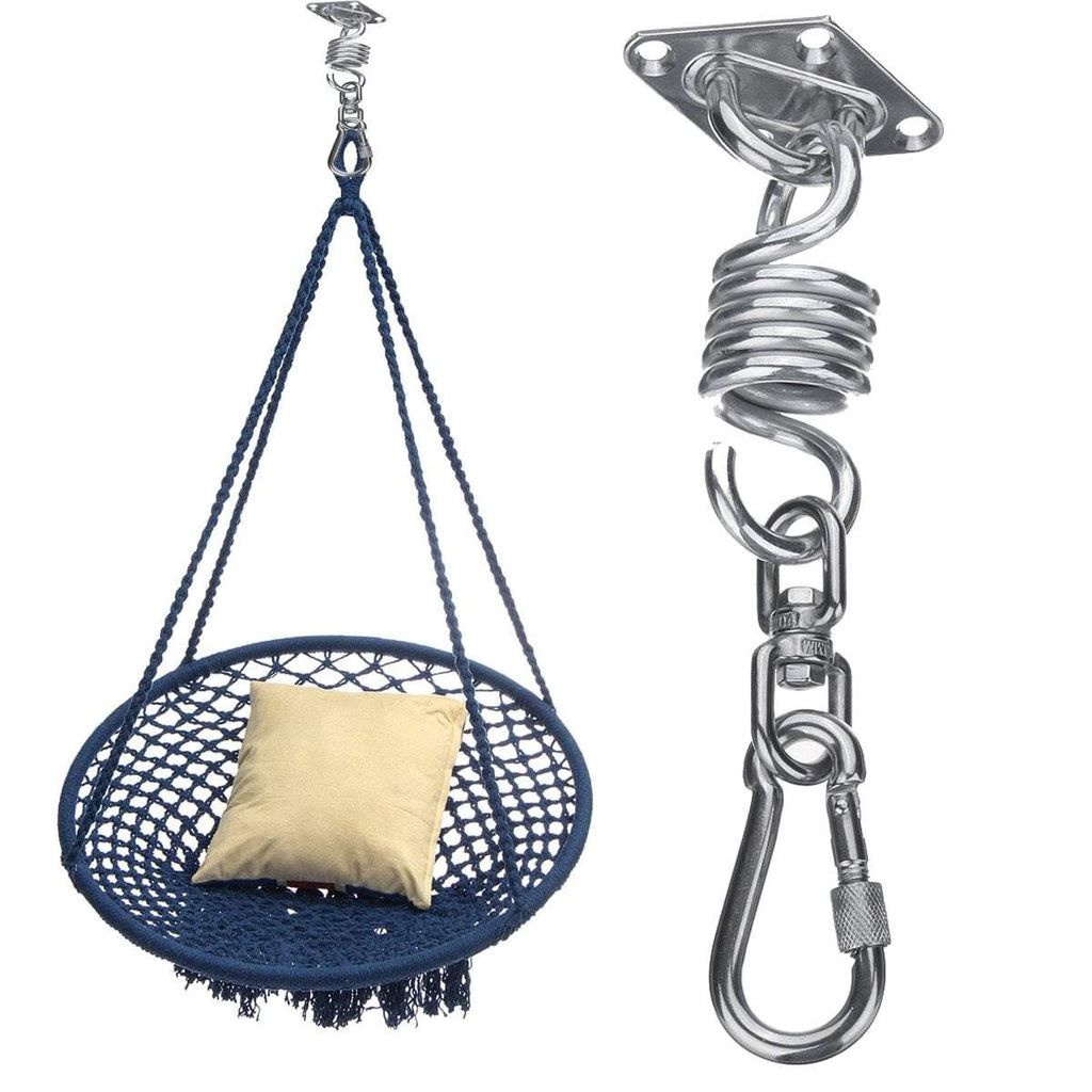 PINkart-USA Stainless Steel Hammock Chair Hanging Kit Ceiling Mount Spring Swivel Snap Hank Hook Camping