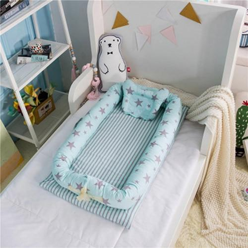 PINkart-USA Star green Portable Baby Nursery Nest Bed Cot Born Bionic Bed Crib Cot Infant Toddler Sleeping Size Bed