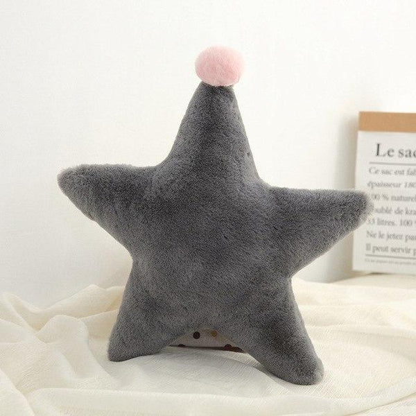 PINkart-USA Star Grey Born Kawaii Toy Kids Back Cushion Baby Room Decor Pillows Crib Wall Decoration Children Products